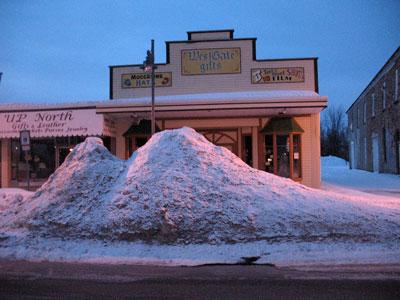 snowpiles