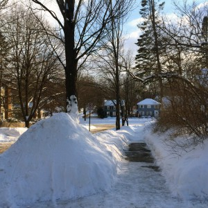 snowbanks